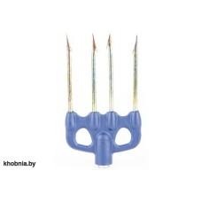 Четырехзубец 003, пластиковое основание, зубцы D 3,5мм, легкий SARGAN AA 003N SAR