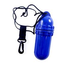 Водонепроницаемый пластиковый контейнер, синий 15,5х5,5 см