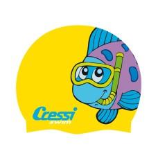 Шапочка cressi cap jr детская силиконовая, цвета в ассортименте с картинками