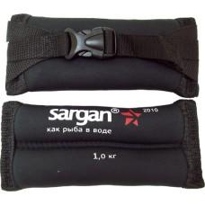 Груза ножные мягкие sargan донгуз 1000, 1 кг, 2мм, неопрен-нейлон черный, баласт-pb.