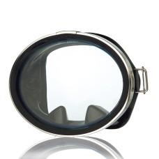 Маска классическая для плавания, круглое стекло, черный силикон