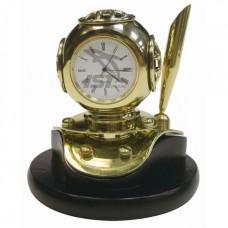 """Подарочные часы настольные мини """"шлем аквалангиста"""" с держателем для ручки"""