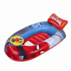 Лодка для плавания надувная спайдермен, 112*70см