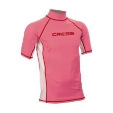 Футболка из лайкры с коротким рукавом cressi rash guard детская. розовая