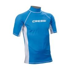 Футболка из лайкры с коротким рукавом cressi rash guard муж. синяя