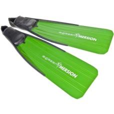 Ласты imersion для подводной охоты зеленые с закрытой пяткой