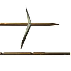 Гарпун сарган, д/арбалетов, зацеп-прорез, сталь 174 ph, d 6,5мм, 120 см, 2 флажка