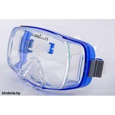 Маска Imperius прозрачный силикон синяя рамка Corrall M-12CB